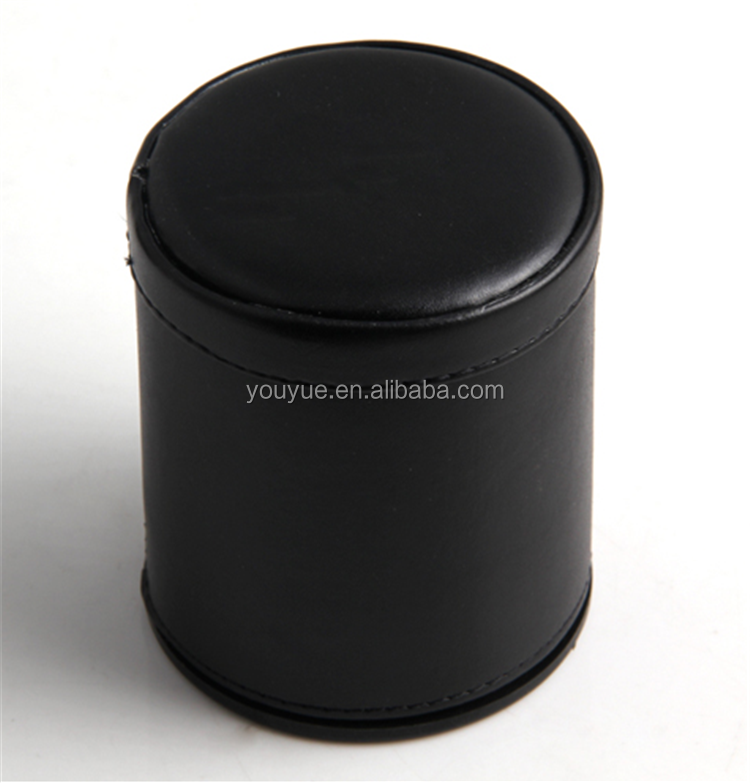 Customized colored PP leather dice cup