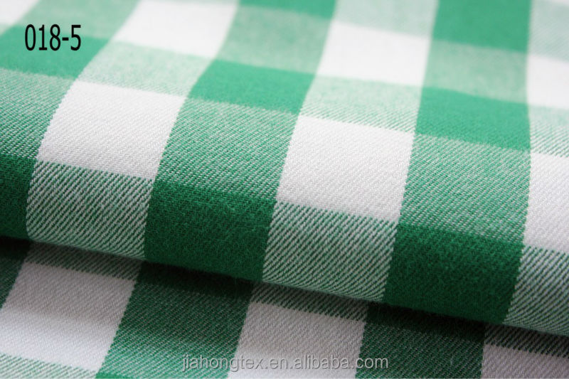 Cotton yarn dyed flannel fabric/Cotton Flannel/100% Cotton raised fabric