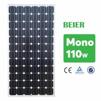 Chinese Solar Panel Manufacturer 110W Mono Solar Module Small Home PV system