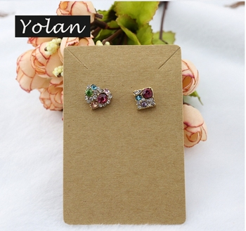 China Yiwu kraft paper free design custom printed earring cards manafacturer