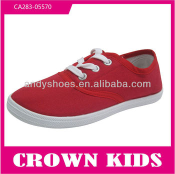 Latest girls brand name china school blank kids canvas shoes