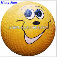 sports factory 2014 china smile face Playground ball 7''