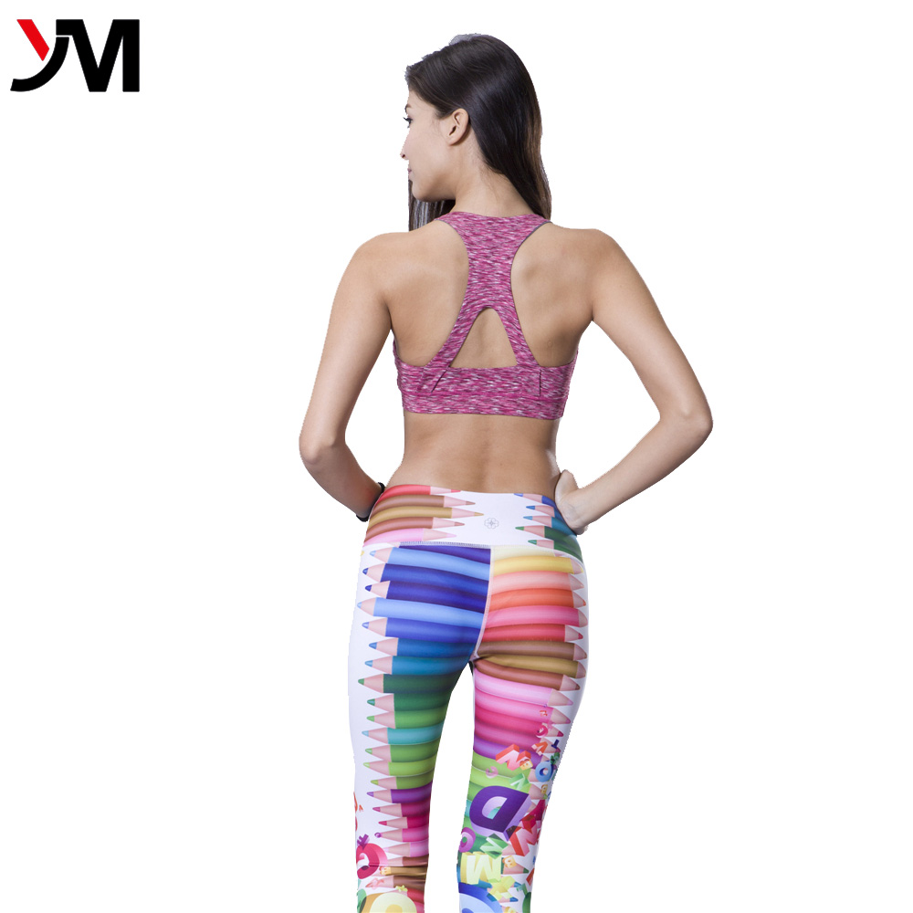 Wholesale Women Athletic Wear Heather Color Workout Running Bra