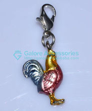 very cute cheap price silver color rooster charm for kids jewelry