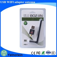 Mini USB WiFi Adapter 802.11N Wi-Fi Dongle High Gain 150Mbps Ralink Wireless 2dBi Antenna wi fi Adapter PC Laptop Network