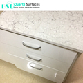 White Misty Carrera Restaurant Quartz Table Top