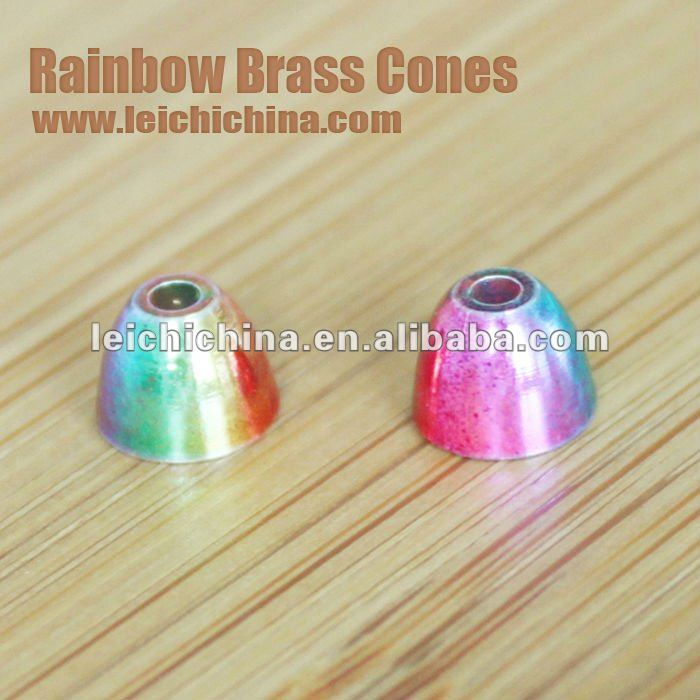 Hot Rainbow Fly Fishing Brass Cones