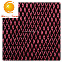Manufacture pu coating diamond textile mesh fabric