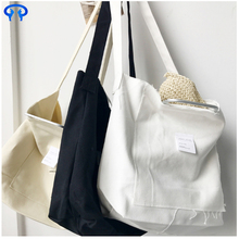 Collapsible white sublimation cotton canvas tote bag