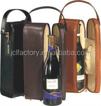 double faux leather bottle leather wine carrier