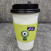 Corrugated hot paper coffee cup sleeves for 8oz,12oz,16oz cups