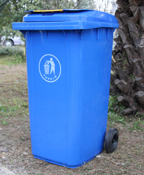 Standard plastic dustbin, outdoor plastic waste can