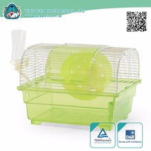 new premium Plastic&Metal Wire Hamster small animal Dome covered Cage