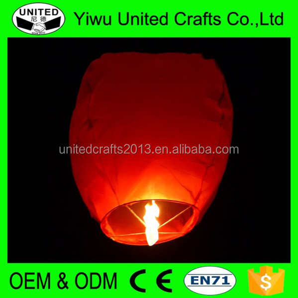 Wishing Lamp Round 100% Biodegradable Kongming Lantern