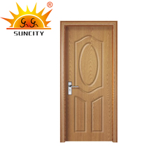 SC-P159 Veneered PVC Door Different Types of Bathroom Door, Moulded MDF Panel PVC Door Design