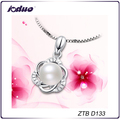 Simple design elegant pearl necklace pendant
