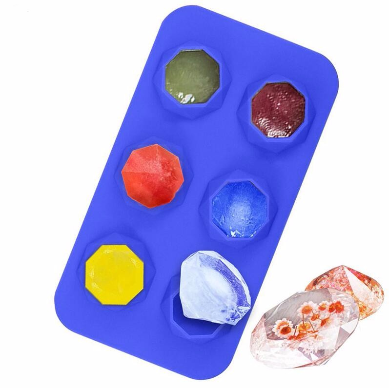 Diamond Ice Cube Trays Silicone Mold For Diamond Shaped Ice, Jelly, Chocolate And Soap
