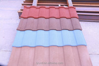 Metal roof tile coated with color granule