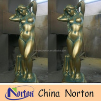 imitation bronze resin sexy nude woman statue NTRS052S