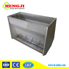 Hot Selling Pig Farm Livestock Equipment Chinese Pig feeder Stainless Steel Double Sided Feeder