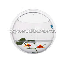 Clear round shape mini acrylic wall hanging fish tank