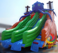 commercial grade kids slide, inflatable animal slide, hippo inflatable beach slide
