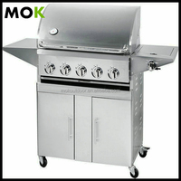 Chicken bbq stainless steel gas outdoor grill fish bbq grill 5+1 burners
