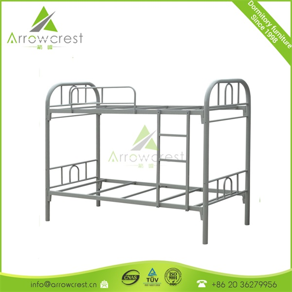 Dubai iron bed Hot sale durable cheap metal flat bunk bed packed