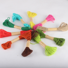 2MM 10meters DIY Colorful Twine Waxed Cord Hemp Jute Rope for Packing/Photo Decor Tag lanyard