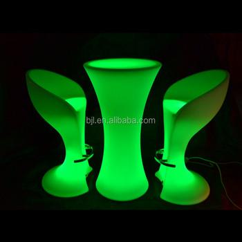PE material glowing furniture,PE led bar table