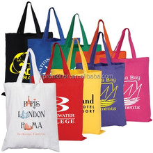 OEM / ODM silk-screen handbag blank Canvas Bags raw Cotton Tote Bag fashion Canvas Tote shopping bag