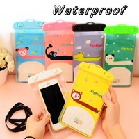 New universal fashion and cute Cartoon Mobile phone waterproof bag for samsung and other brand phones