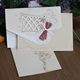 English Newest Cheap Floral Cutout Wedding Invitation Cards with Envelope