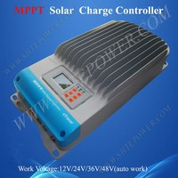 12V 24V 36V 48V Auto Work MPPT Solar Charge Controller 60A With Meter LCD