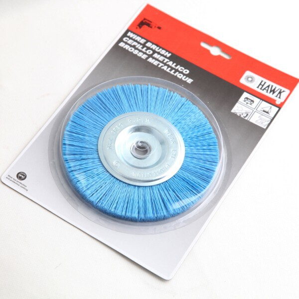 nylon wire wheel brushes packed on display cards, diameter 150mm or 6""