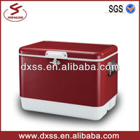 Portable plastic inner box ice refrigerated cooler box