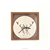 Led Digital wood crafts wall clock in natural wood color
