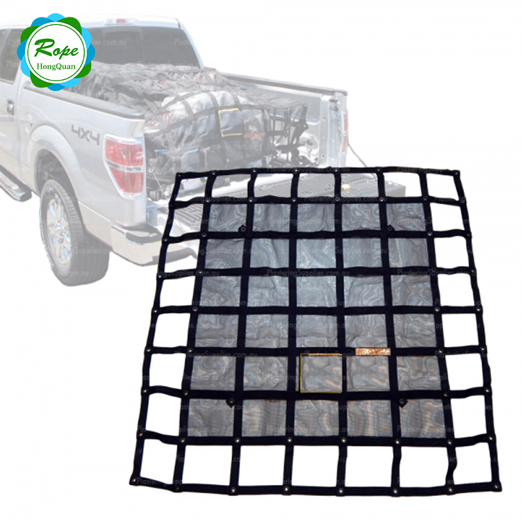 Polyester Adjustable Safety Durable Shipping Webbing Truck Cargo Trailer Nets