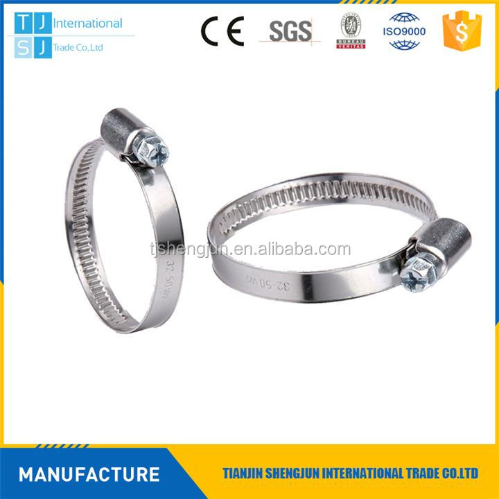 Professional galvanized iron/ stainless steel hose clamp/hoop