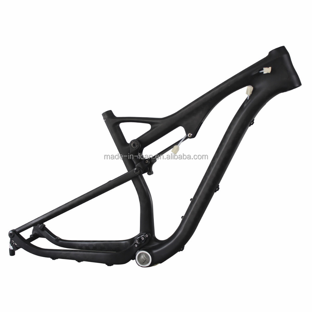 Thru axle full carbon suspension bike frame 29er mtb bicycle frame mountain bike frame full suspension 29""