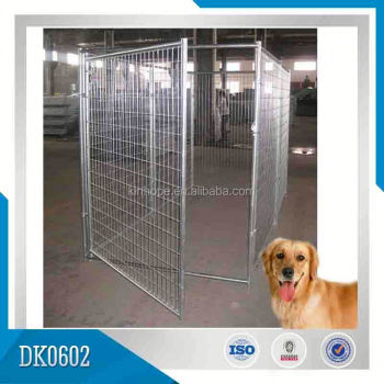 Glavanized Large Clamps Linked Dog Run Kennel Fence