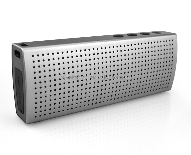 Stero metal aluminum thin bluetooth speaker