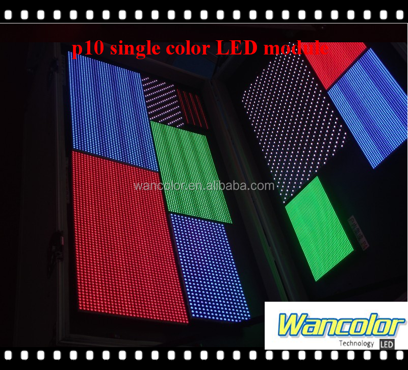 p10 led wall shenzhen led factory p10 outdoor single blue color led display sign