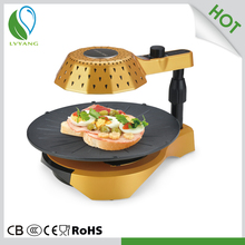 smokeless indoor portable round cast iron bbq grills electric pizza oven non stick pan