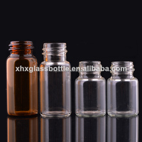Screw Glass Tube Bottle Small Amber Glass Vial 50Ml Glass Tubular Vial