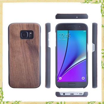 Factory new arrival wood walnut pc case for samsung galaxy S7