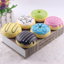 Various colorful new scented soft donuts slow rising squishy for stress relief