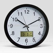 Mutifunctional Calendar Radio controlled LCD wall clock