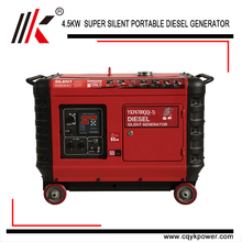 5.5KVA AIR COOLED TWIN CYLINDER DIESEL GENERATOR PORTABLE MAGNETIC GENERATOR FOR SALE