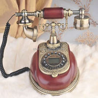 Resin material old fashioned caller id telephone